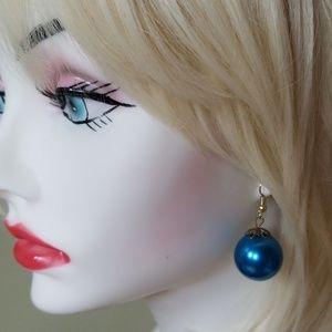 Vintage Ball Drop Pierced Earrings